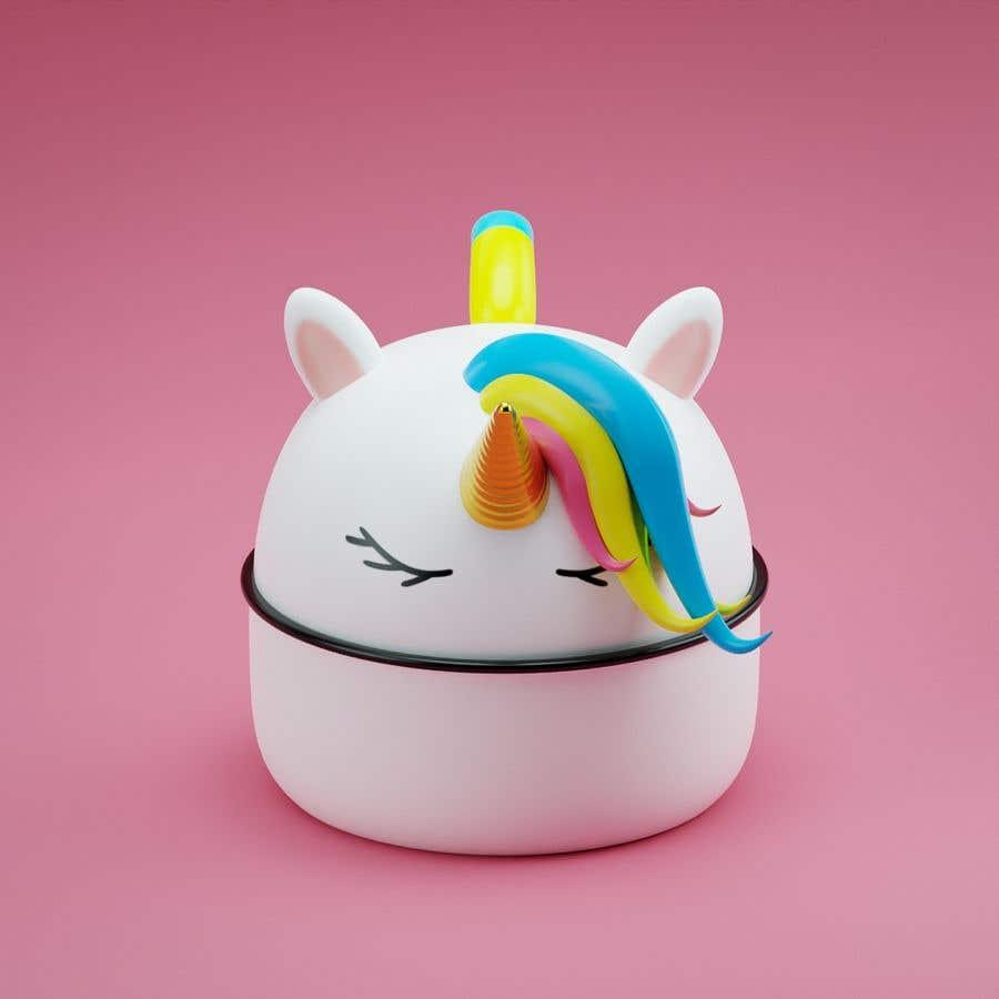 Konkurrenceindlæg #                                        6                                      for                                         Product Design Mock-up - Unicorn Ceramic Bowl