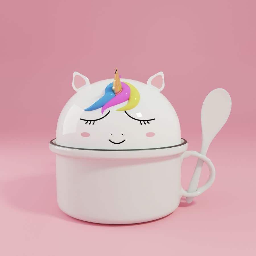 Konkurrenceindlæg #                                        10                                      for                                         Product Design Mock-up - Unicorn Ceramic Bowl