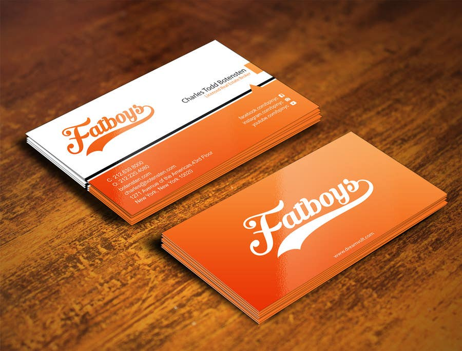 Konkurrenceindlæg #                                        31                                      for                                         Design some Business Cards for Fatboys