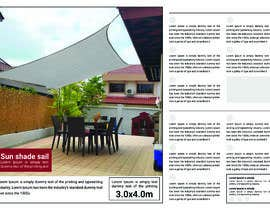 #1 untuk Design a product 1 page for Sun Shade Sail. oleh Negativedesign