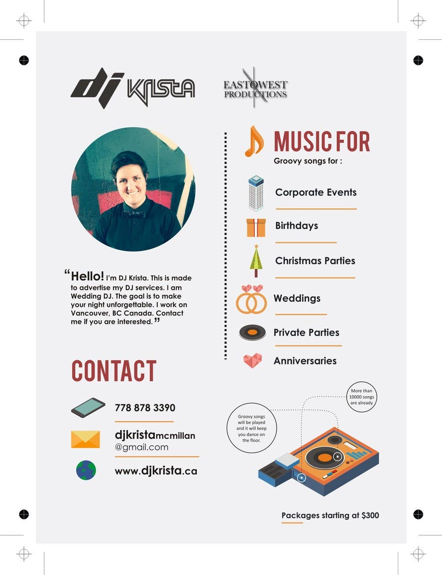 Contest Entry #                                        5                                      for                                         Design some Stationery for DJ Krista