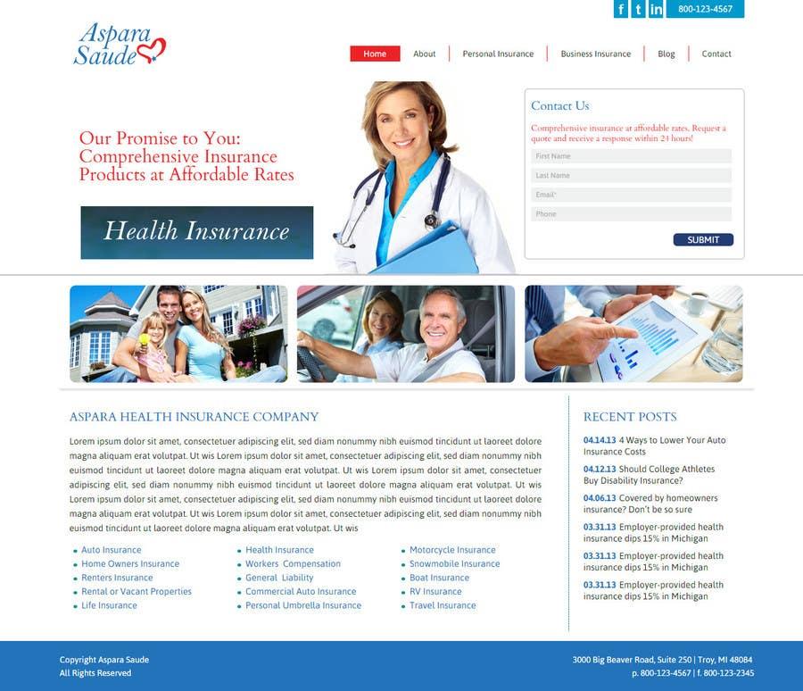 Konkurrenceindlæg #2 for A Website for a Health Insurance Company.