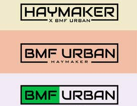 #15 pentru I need a logo designed. Please make the haymaker with X BMF Urban, and the other way round, BMF URBAN x haymaker, I've added the drawings of both logo of how they need to look de către syedtalatahmed
