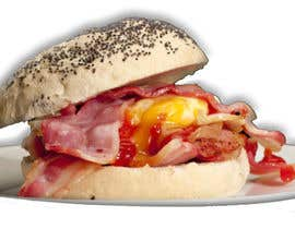 #17 for Design a Bacon and Egg roll emoticon af faizarchi91