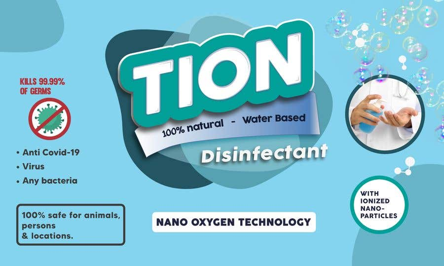 Proposition n°                                        26                                      du concours                                         Label  design with illustration for a disinfectant with nanoparticles