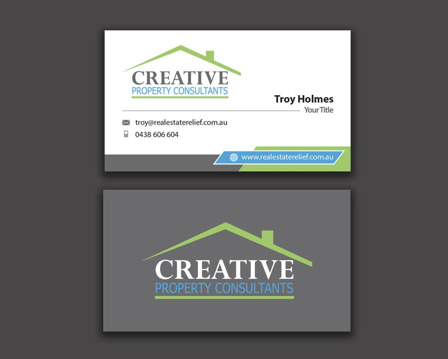 Konkurrenceindlæg #                                        66                                      for                                         Design some Business Cards for Creative Property Consultants