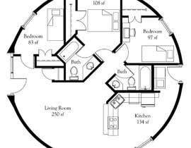 peterawad015 tarafından Architect's Design for a 2-bedroom Round, Grass Thatched House için no 8
