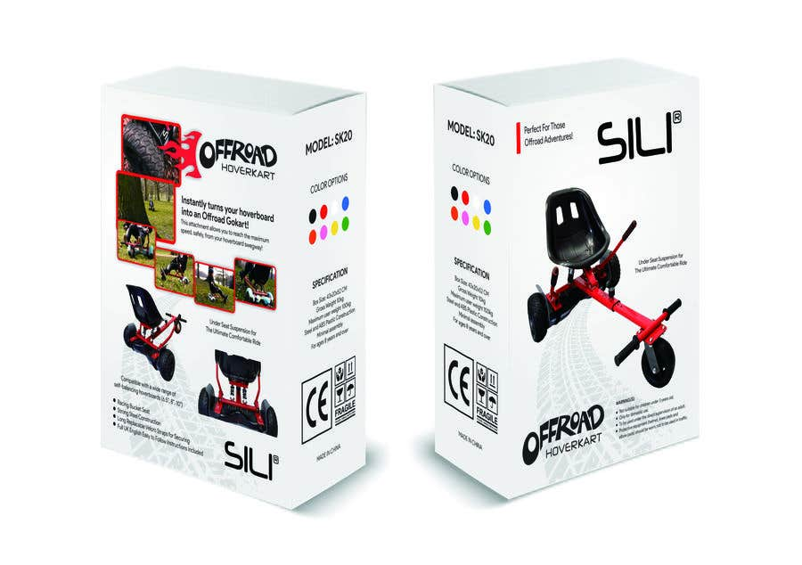 Kilpailutyö #                                        16                                      kilpailussa                                         Packaging Design - Colour Outer Box for Kids Toy (Hoverkart)
