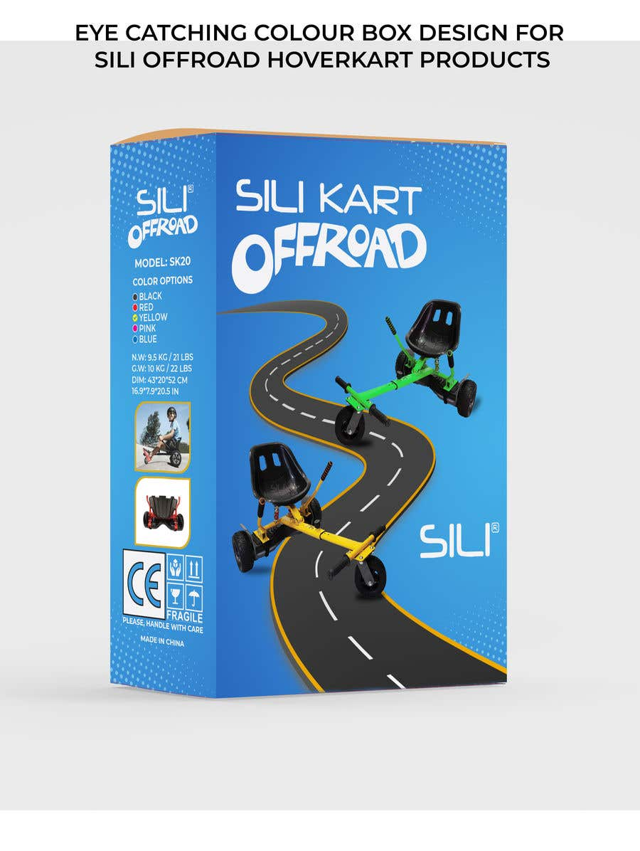 Kilpailutyö #                                        33                                      kilpailussa                                         Packaging Design - Colour Outer Box for Kids Toy (Hoverkart)