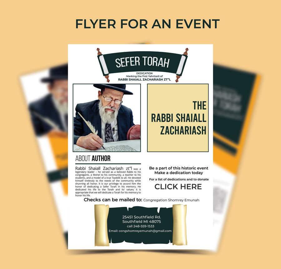 Proposition n°                                        152                                      du concours                                         Design a Flyer for an Event (Sefer Torah)