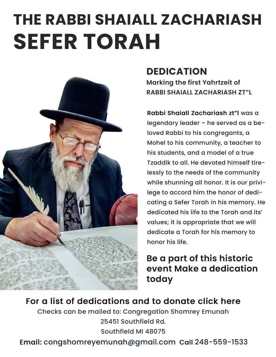 Proposition n°                                        94                                      du concours                                         Design a Flyer for an Event (Sefer Torah)