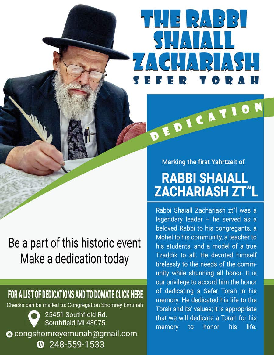 Proposition n°                                        31                                      du concours                                         Design a Flyer for an Event (Sefer Torah)