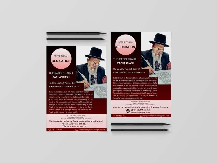 Proposition n°                                        116                                      du concours                                         Design a Flyer for an Event (Sefer Torah)