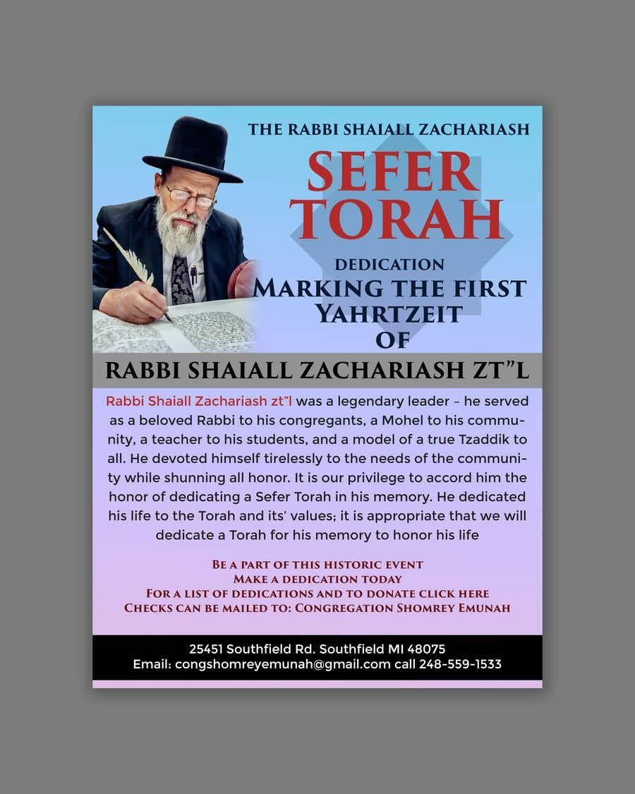 Proposition n°                                        17                                      du concours                                         Design a Flyer for an Event (Sefer Torah)