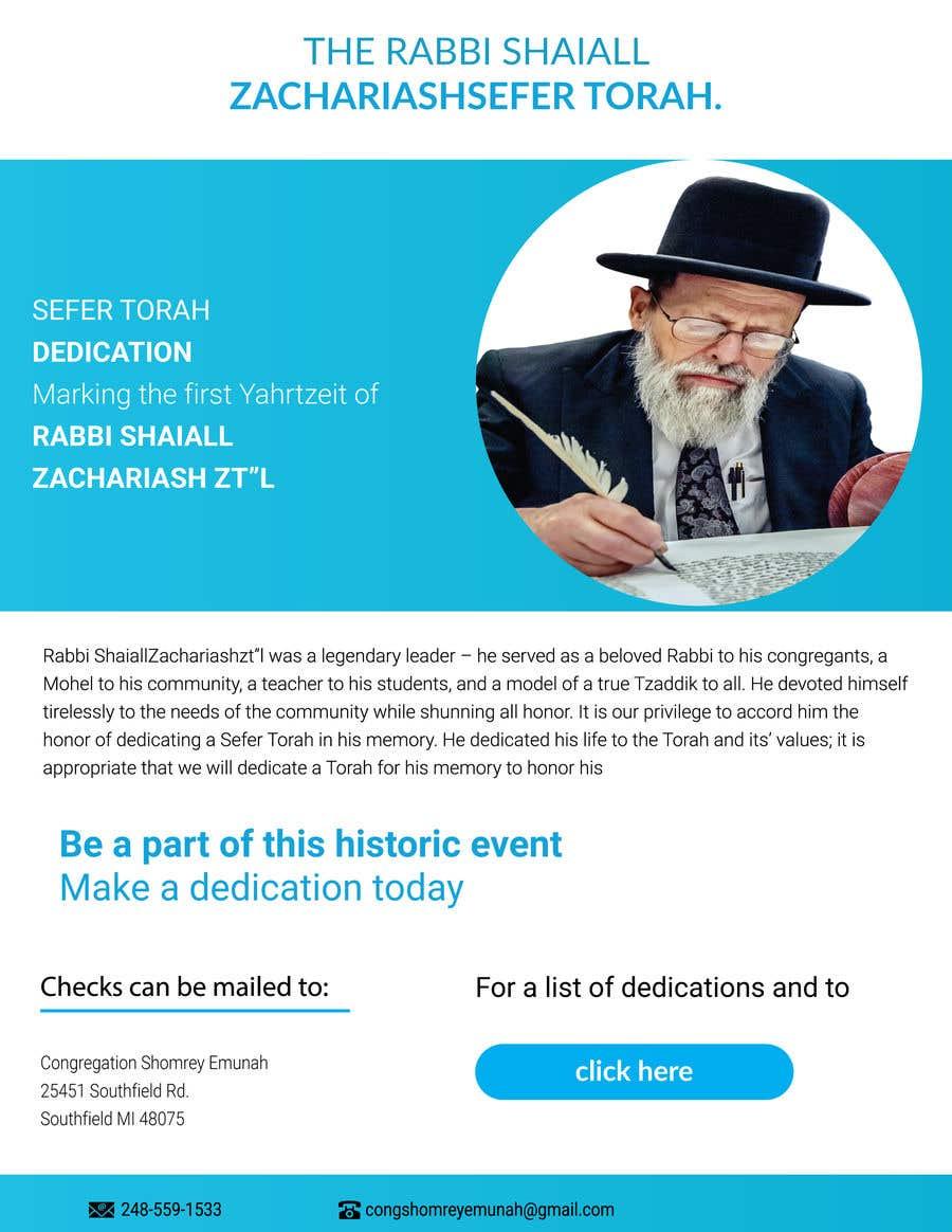 Proposition n°                                        58                                      du concours                                         Design a Flyer for an Event (Sefer Torah)