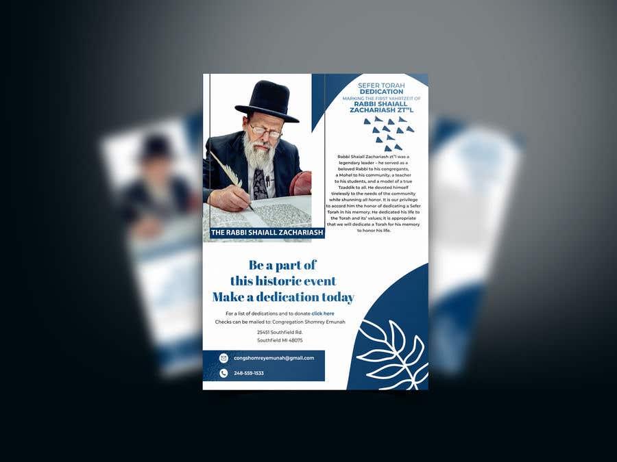 Proposition n°                                        57                                      du concours                                         Design a Flyer for an Event (Sefer Torah)