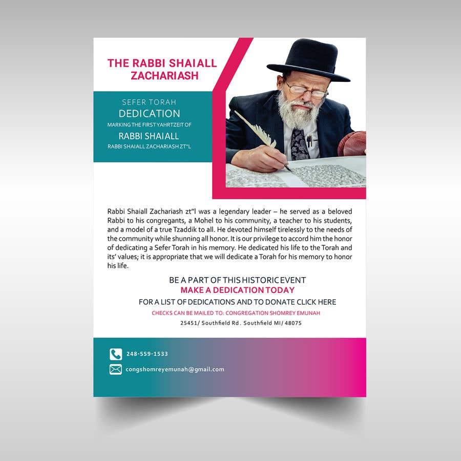 Proposition n°                                        23                                      du concours                                         Design a Flyer for an Event (Sefer Torah)