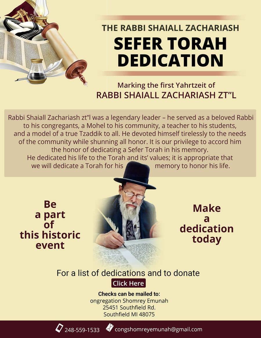 Proposition n°                                        138                                      du concours                                         Design a Flyer for an Event (Sefer Torah)