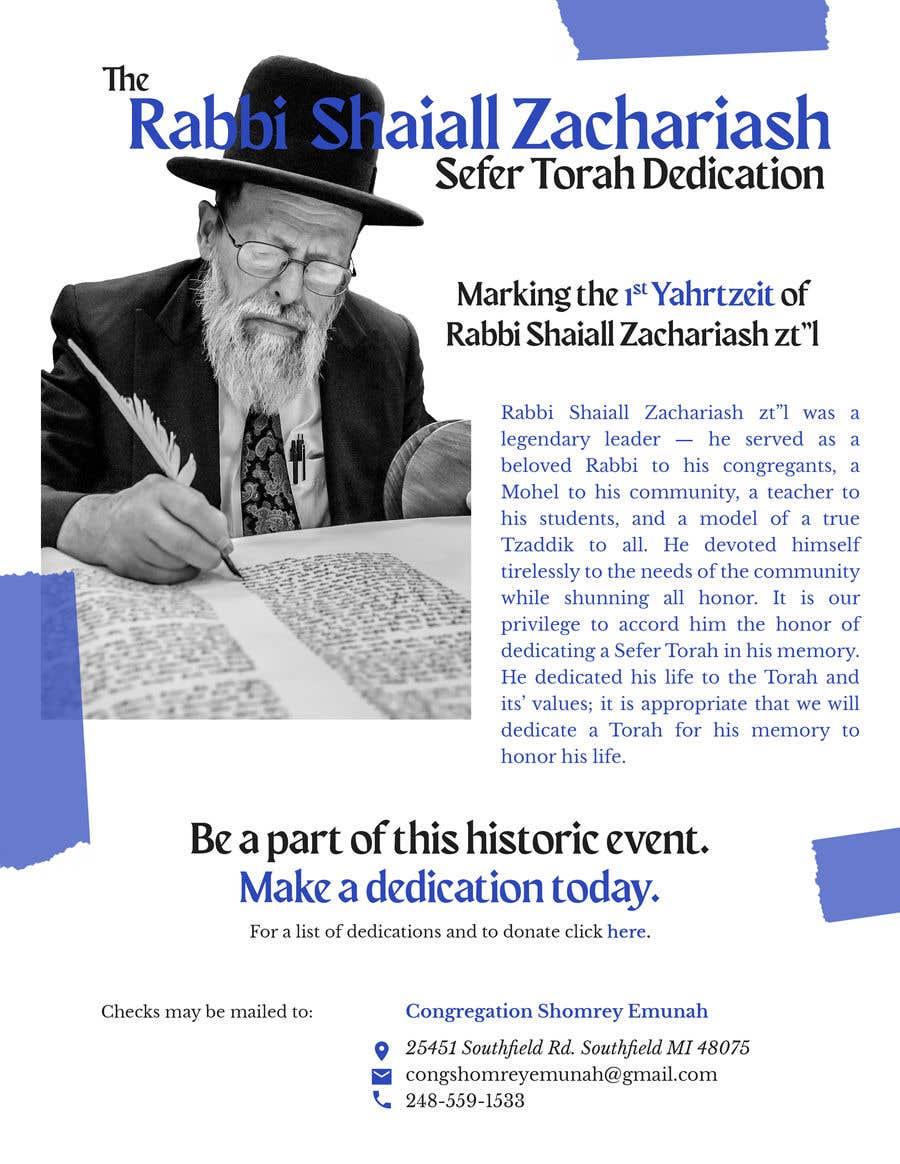 Proposition n°                                        12                                      du concours                                         Design a Flyer for an Event (Sefer Torah)