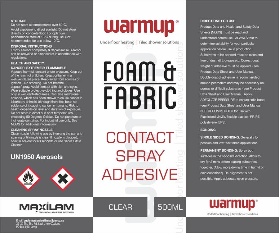 Contest Entry #                                        6                                      for                                         Design an attention grabbing label for aerosol