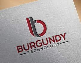 #279 pentru Burgundy Technology Logo Creation de către mazharulislam618