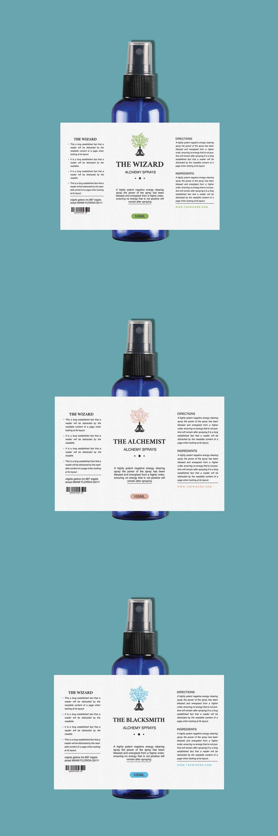Bài tham dự cuộc thi #                                        109                                      cho                                         Alchemy Spray Mist Labels and Flyer
