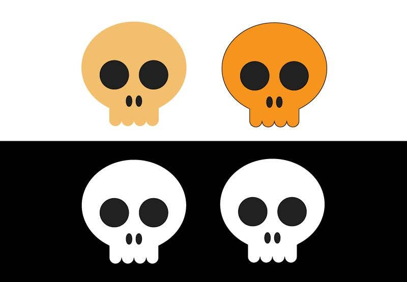 Contest Entry #                                        54                                      for                                         I'm a jewelry designer and I'm looking for a very unique cool skull design. That is closed with no outside openings. This is for jewelry. I attached an example. But be very unique and do not copy this example. It's just for simplicity.