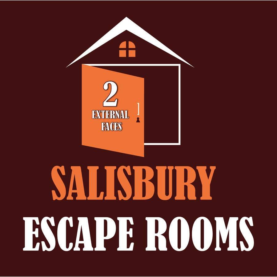 Kilpailutyö #                                        5                                      kilpailussa                                         escape room signage