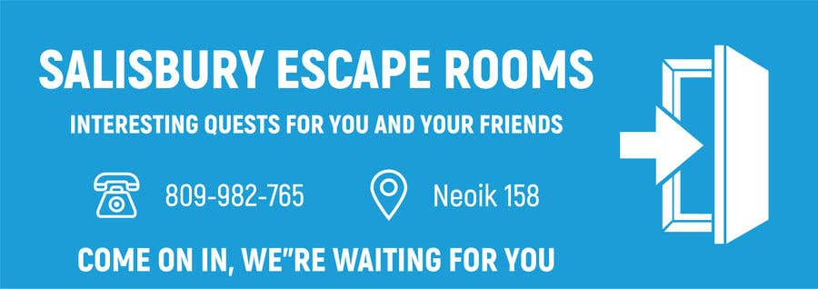 Kilpailutyö #                                        8                                      kilpailussa                                         escape room signage