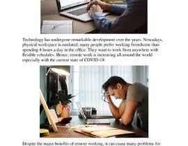 """Nro 46 kilpailuun Article on """"Social isolation due to remote working"""" käyttäjältä Khaoulaelgraoui1"""