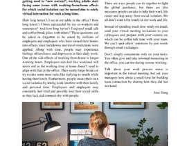 """Nro 26 kilpailuun Article on """"Social isolation due to remote working"""" käyttäjältä janedang1303"""