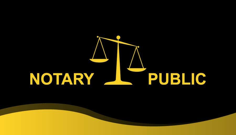 Kilpailutyö #                                        51                                      kilpailussa                                         Business Card - Notary Public