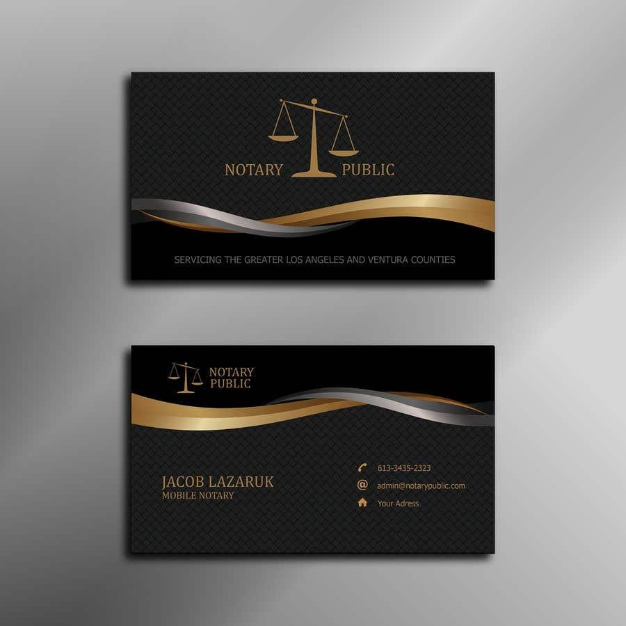 Kilpailutyö #                                        107                                      kilpailussa                                         Business Card - Notary Public