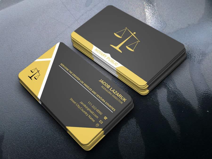 Kilpailutyö #                                        125                                      kilpailussa                                         Business Card - Notary Public