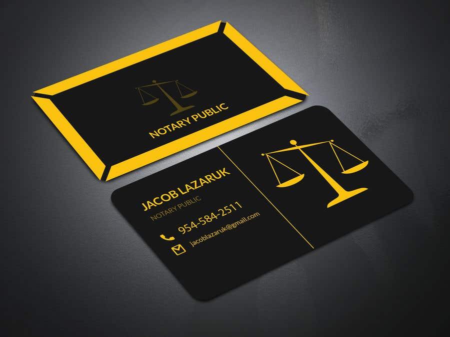 Kilpailutyö #                                        127                                      kilpailussa                                         Business Card - Notary Public