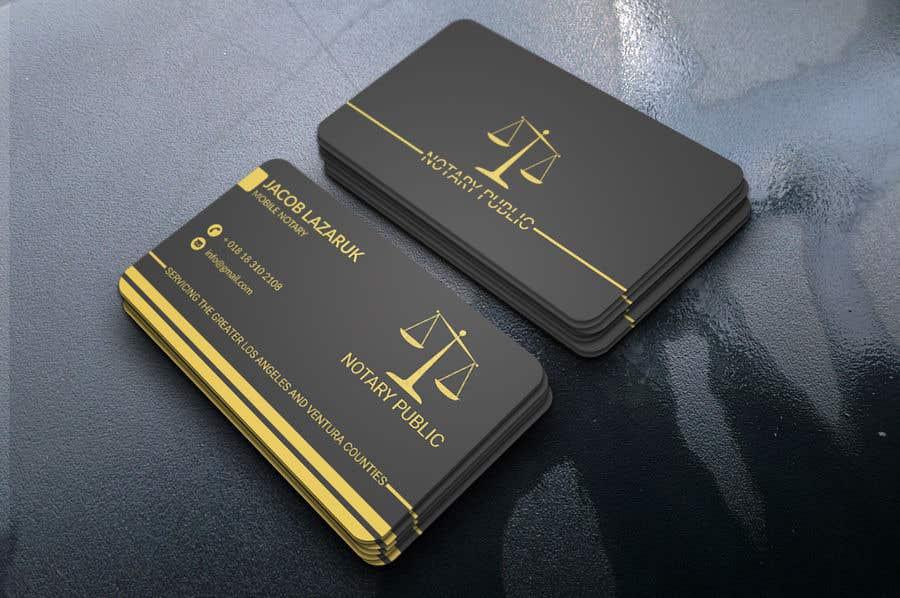 Kilpailutyö #                                        108                                      kilpailussa                                         Business Card - Notary Public