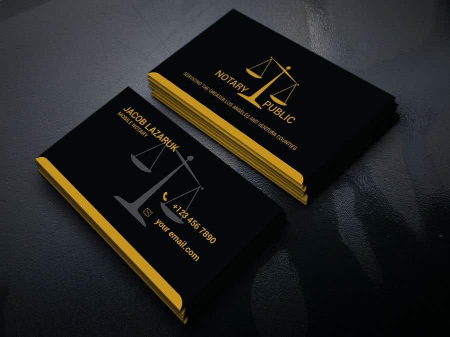 Kilpailutyö #                                        123                                      kilpailussa                                         Business Card - Notary Public