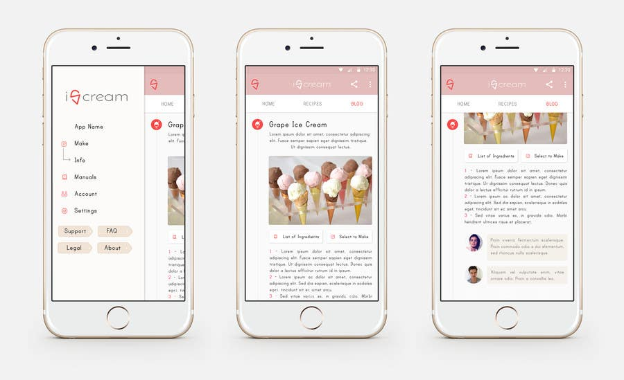 Contest Entry #                                        29                                      for                                         Design an App Mockup for Smart Ice Cream Maker