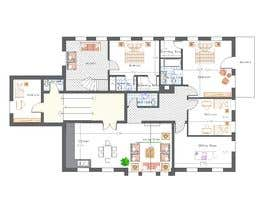 #12 for Create a new layout for refurbishment of an upper floor in .pdf and .dwg af mesmeriem