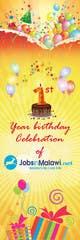 Konkurrenceindlæg #                                                18                                              billede for                                                 HAPPY BIRTHDAY JOBSINMALAWI.NET