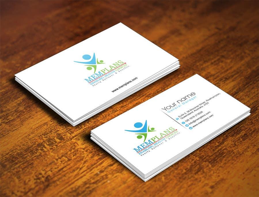 Inscrição nº 66 do Concurso para Design some Business Cards for Memplans