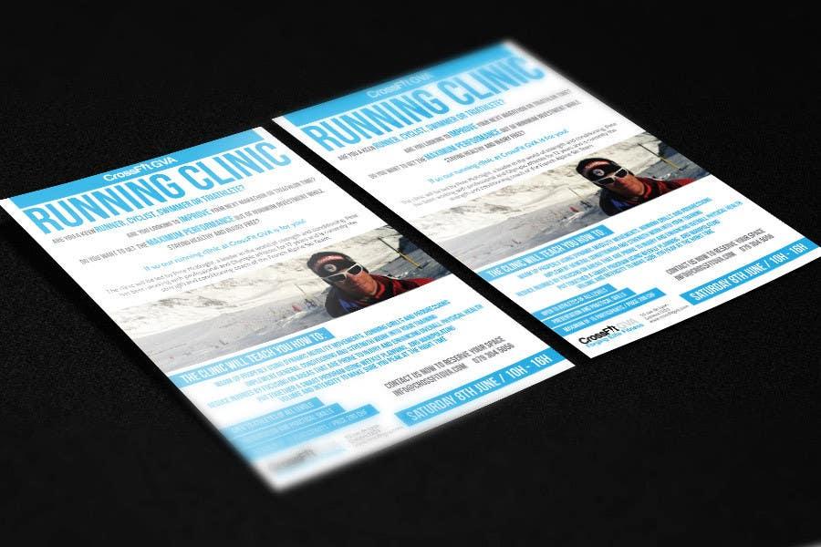 #10 for Advertisement Design for Running Clinic by DarkoMihajlovic