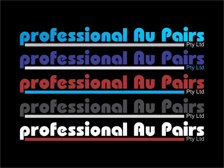 Kilpailutyö #106 kilpailussa Logo Design for Professional Au Pairs Pty Ltd