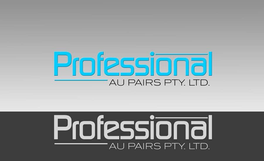 Kilpailutyö #111 kilpailussa Logo Design for Professional Au Pairs Pty Ltd
