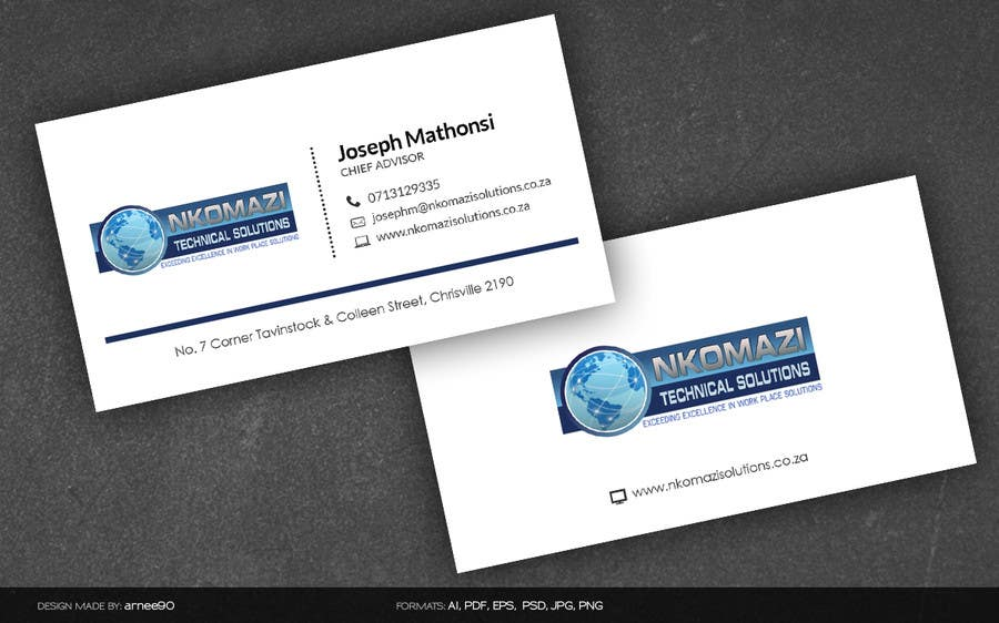 Konkurrenceindlæg #                                        8                                      for                                         Design Letterhead and Business Card for a technical solutions company
