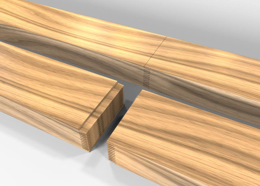 Konkurrenceindlæg #                                        78                                      for                                         Realistic 3D modelling - Sawed Wood profiles