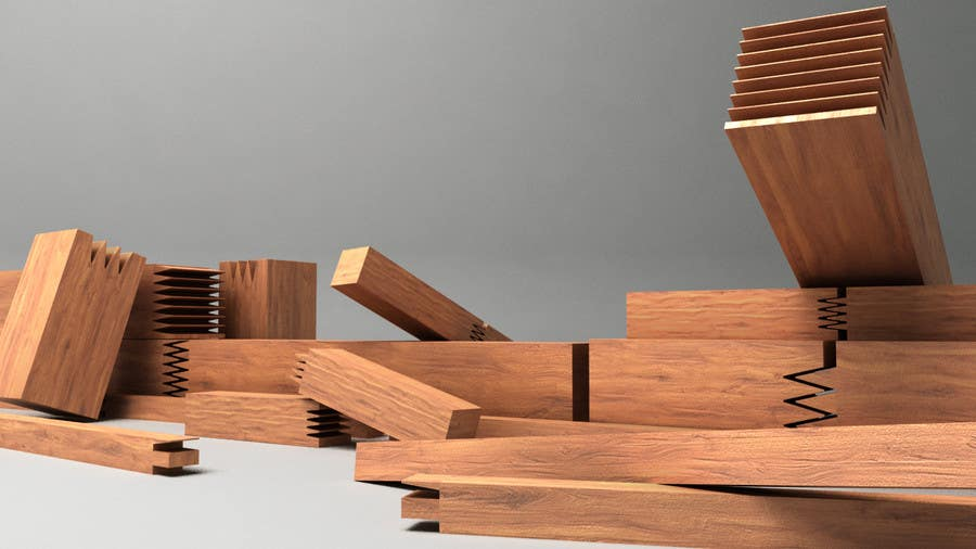 Konkurrenceindlæg #                                        71                                      for                                         Realistic 3D modelling - Sawed Wood profiles