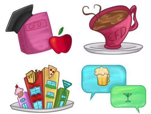 Конкурсная заявка №23 для Icons for food website