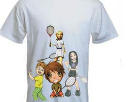 #15 for Design a T-Shirt for Parody Avengers, Badminton, Chibi style by mukundrathi2905