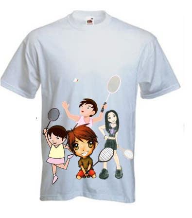 Proposition n°                                        16                                      du concours                                         Design a T-Shirt for Parody Avengers, Badminton, Chibi style